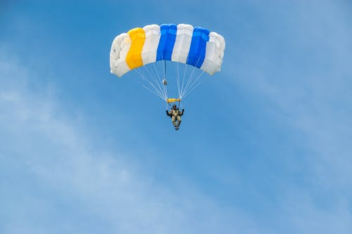 Parachute Floating on Air
