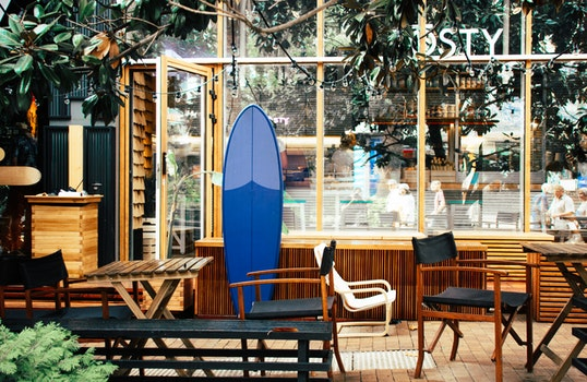 Blue Surfboard