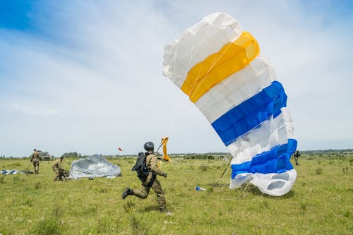 Paratroopers Landed on Land