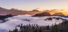 Landschaft mit Wolken