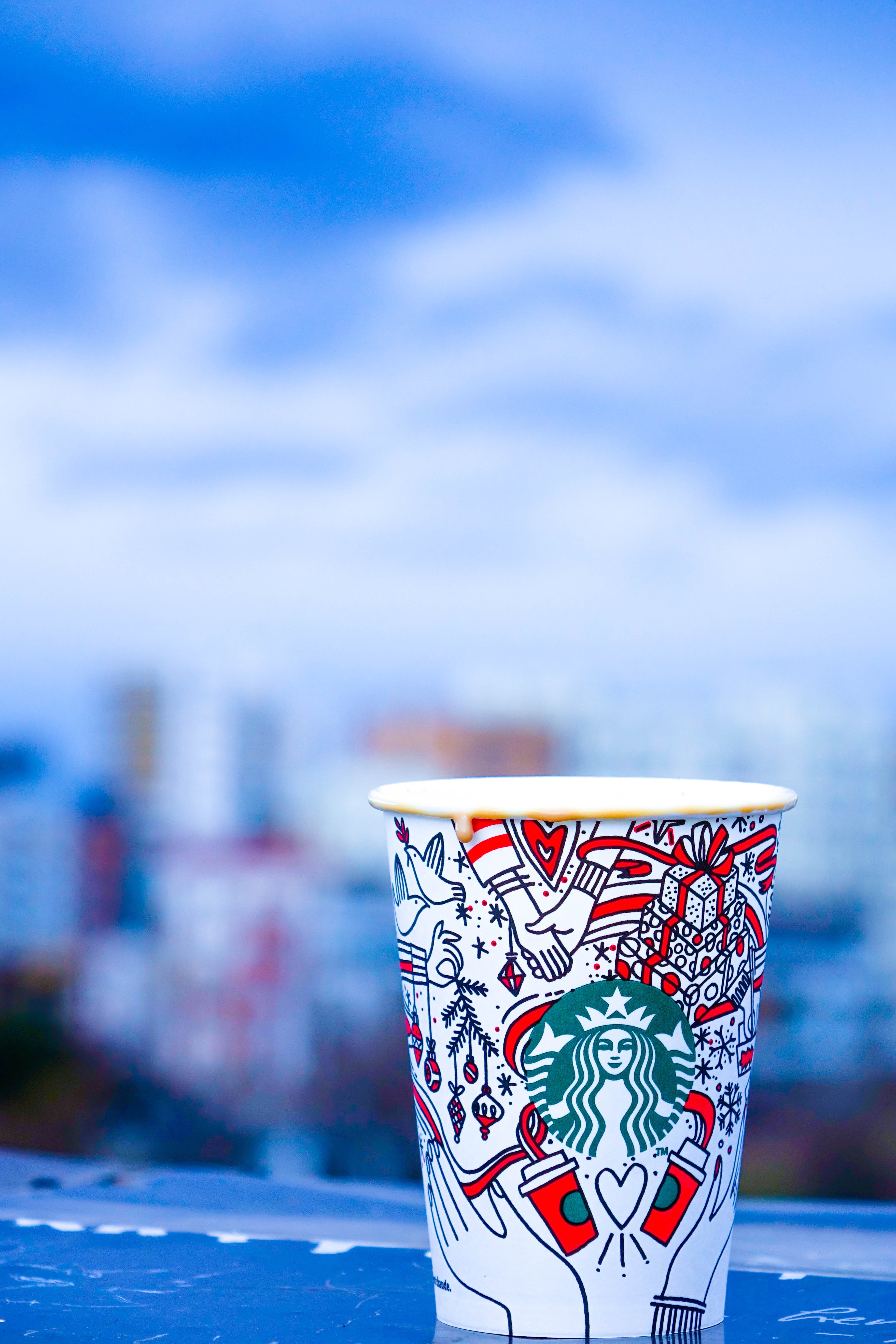 Close-Up Photo of White and Red Starbucks Disposable Cup