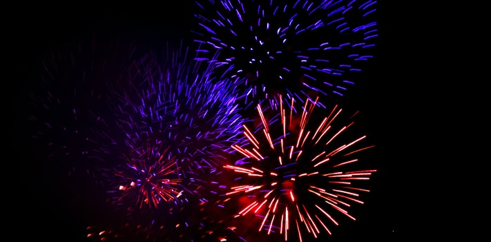 Free stock photo of red, blue, fireworks, beautiful