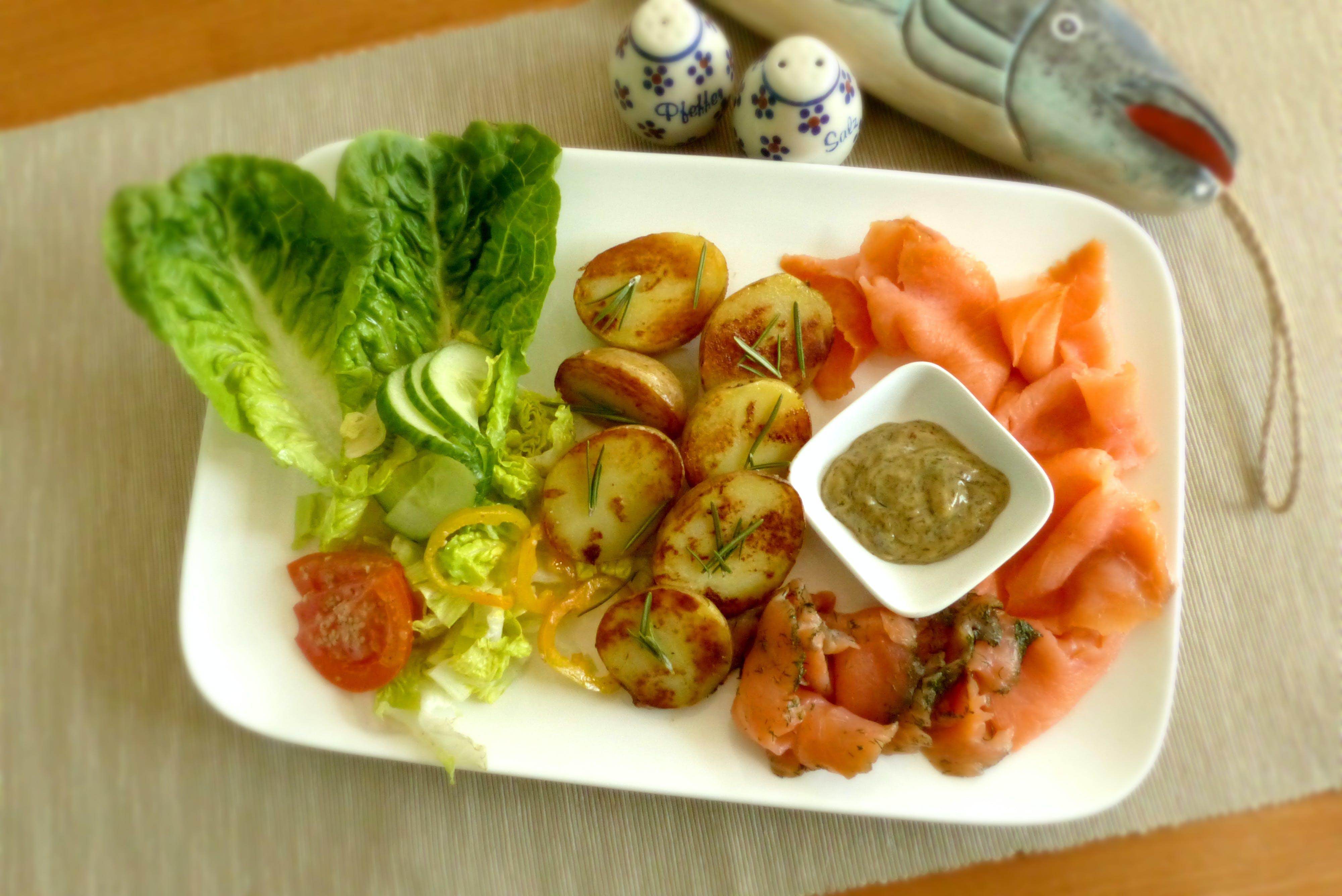 Free stock photo of dish, eating, salmon