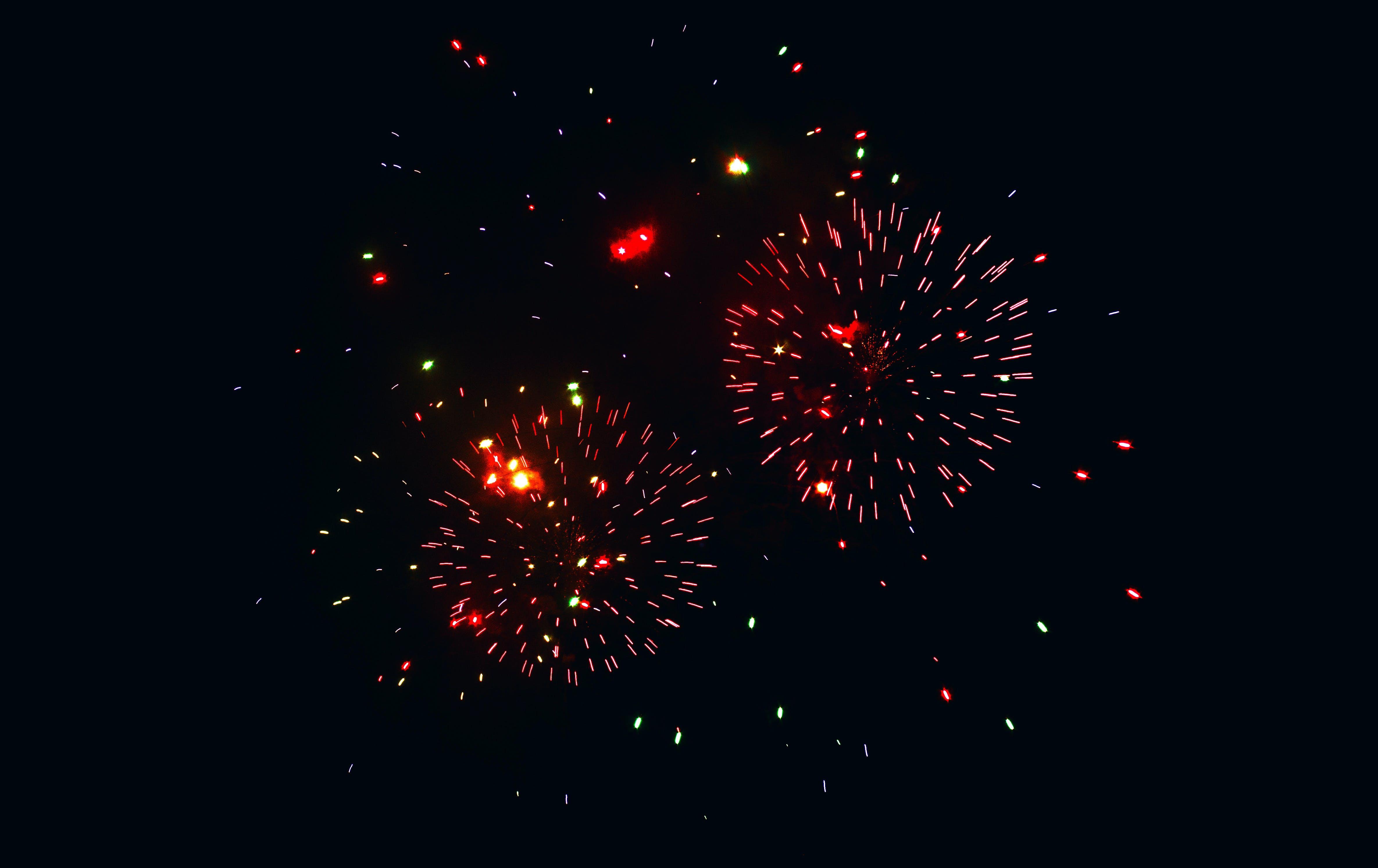 Darmowe zdjęcie z galerii z fajerwerki, gwiazdy, kolorowy, rower