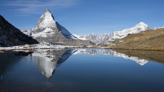 Photography of Snow Mountains Near Lake
