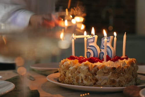 Free stock photo of 55th anniversary, aging, birthday cake