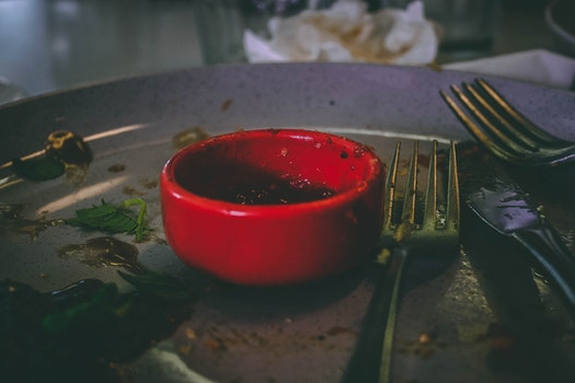 Free stock photo of food, plate, dirty, meal