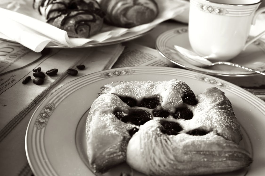 Baked Pastry on Saucer