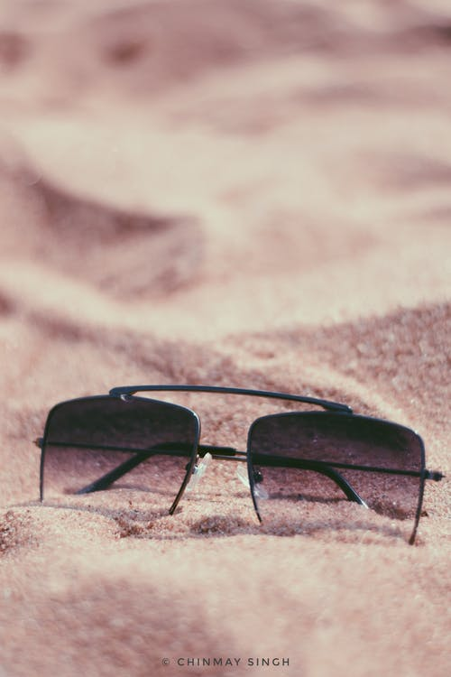 Free stock photo of sand, sunglasses