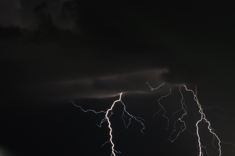 Free stock photo of clouds, lightning, lightning strike