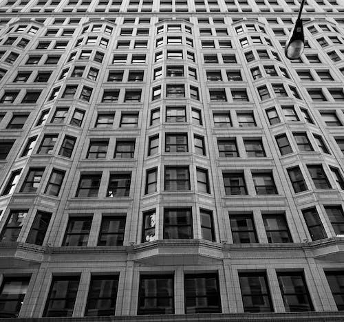 벽돌, 벽돌 질감, 블랙 앤 화이트, 창문의 무료 스톡 사진