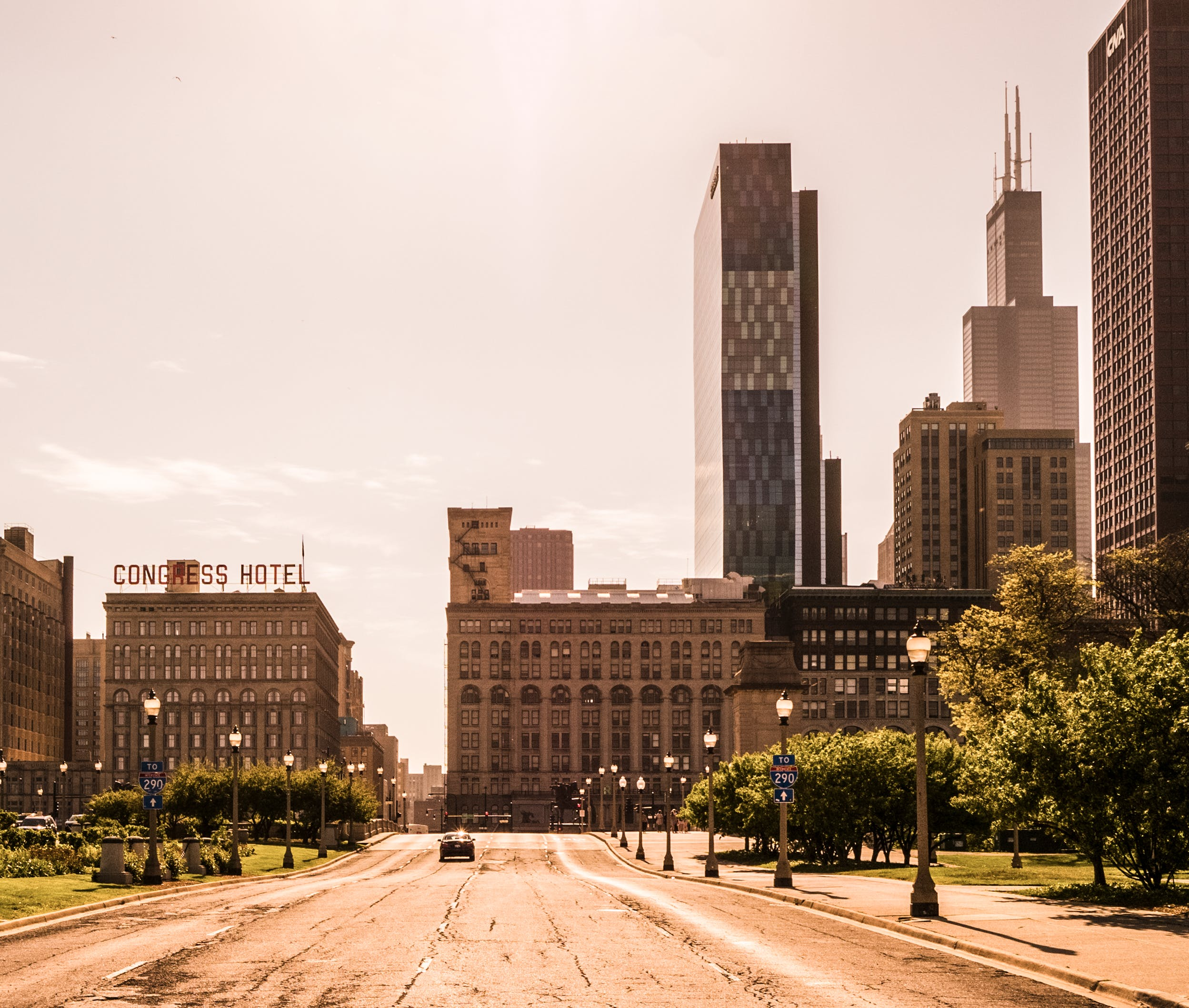 Free stock photo of buildings, chicago, city, empty