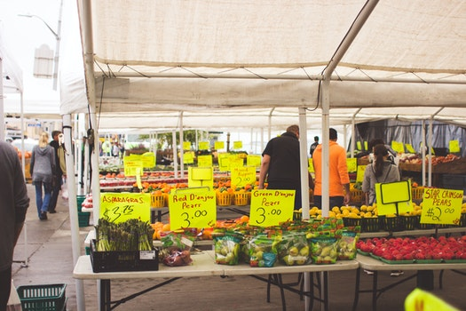 Free stock photo of vegetables, market, outdoor
