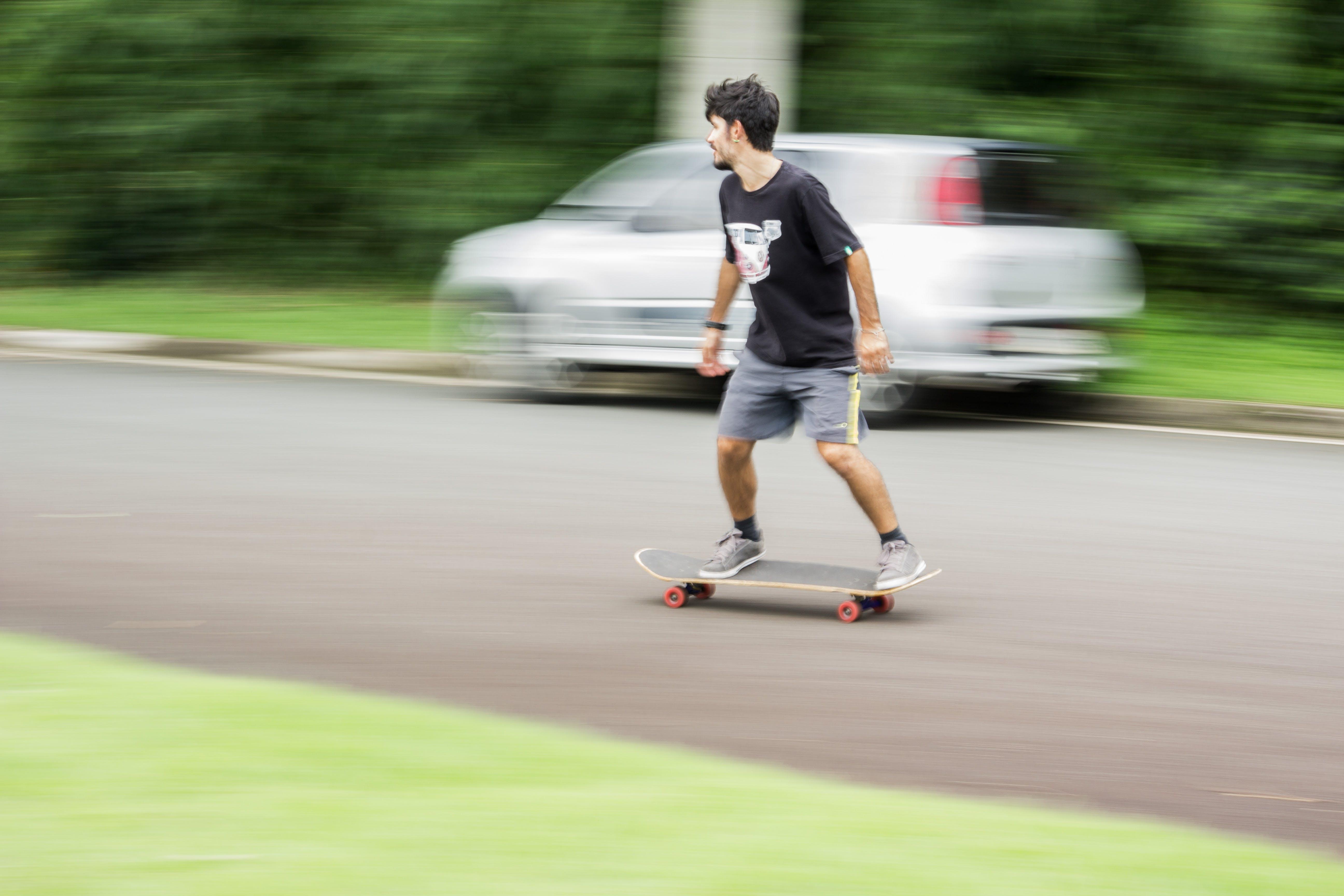 Free stock photo of street, sport, long, longboard