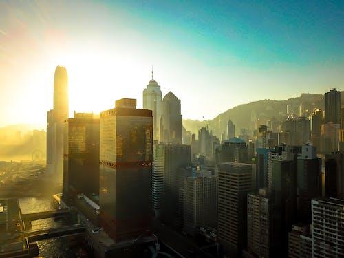 Kostenloses Stock Foto zu dji, drohne cam, früher morgen, hongkong