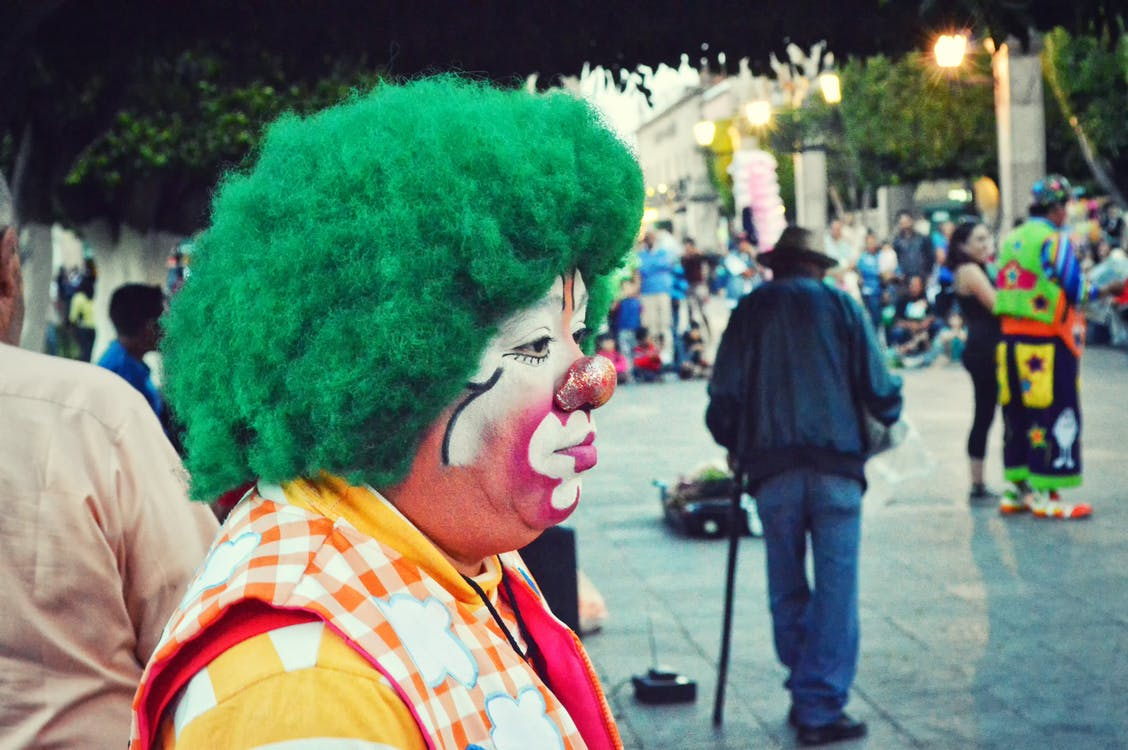 Photography of Clown With Green Hair