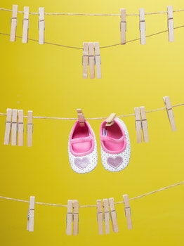 Baby's White-and-pink Polka-dot Shoes