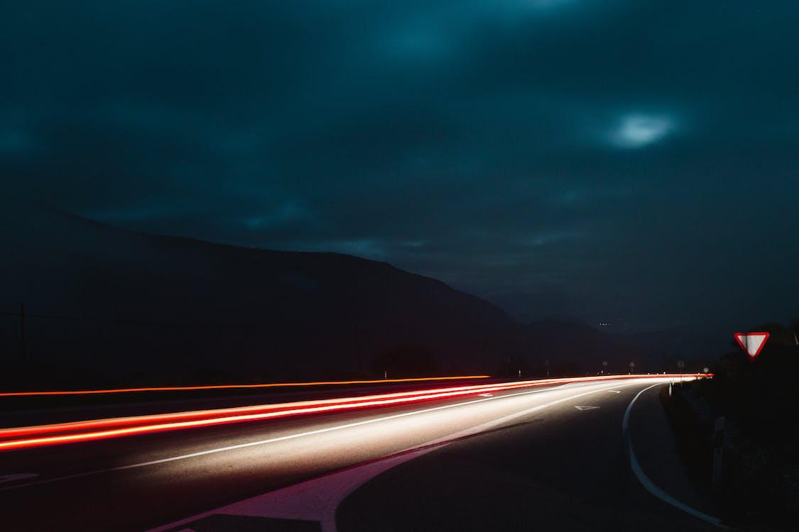 accéléré, asphalte, autoroute