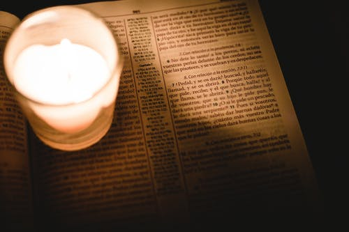 Free stock photo of bible, candle, hope, read