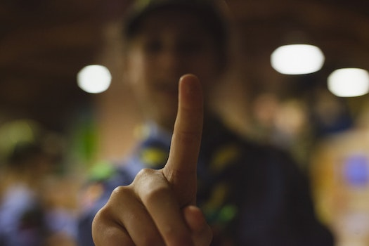 Shadow Depth of Field Photography of Human Index Finger