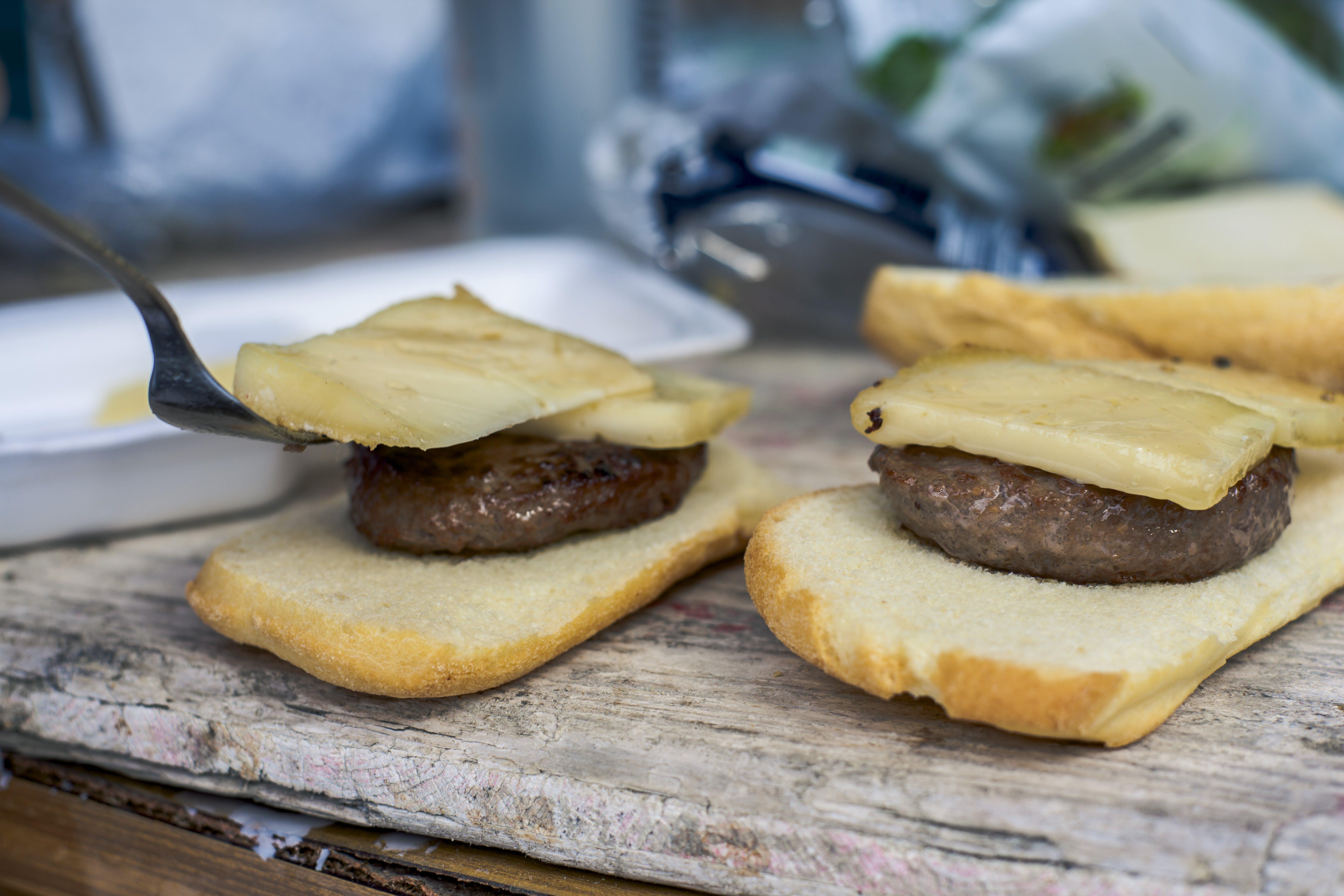 Bread Slice With Burger