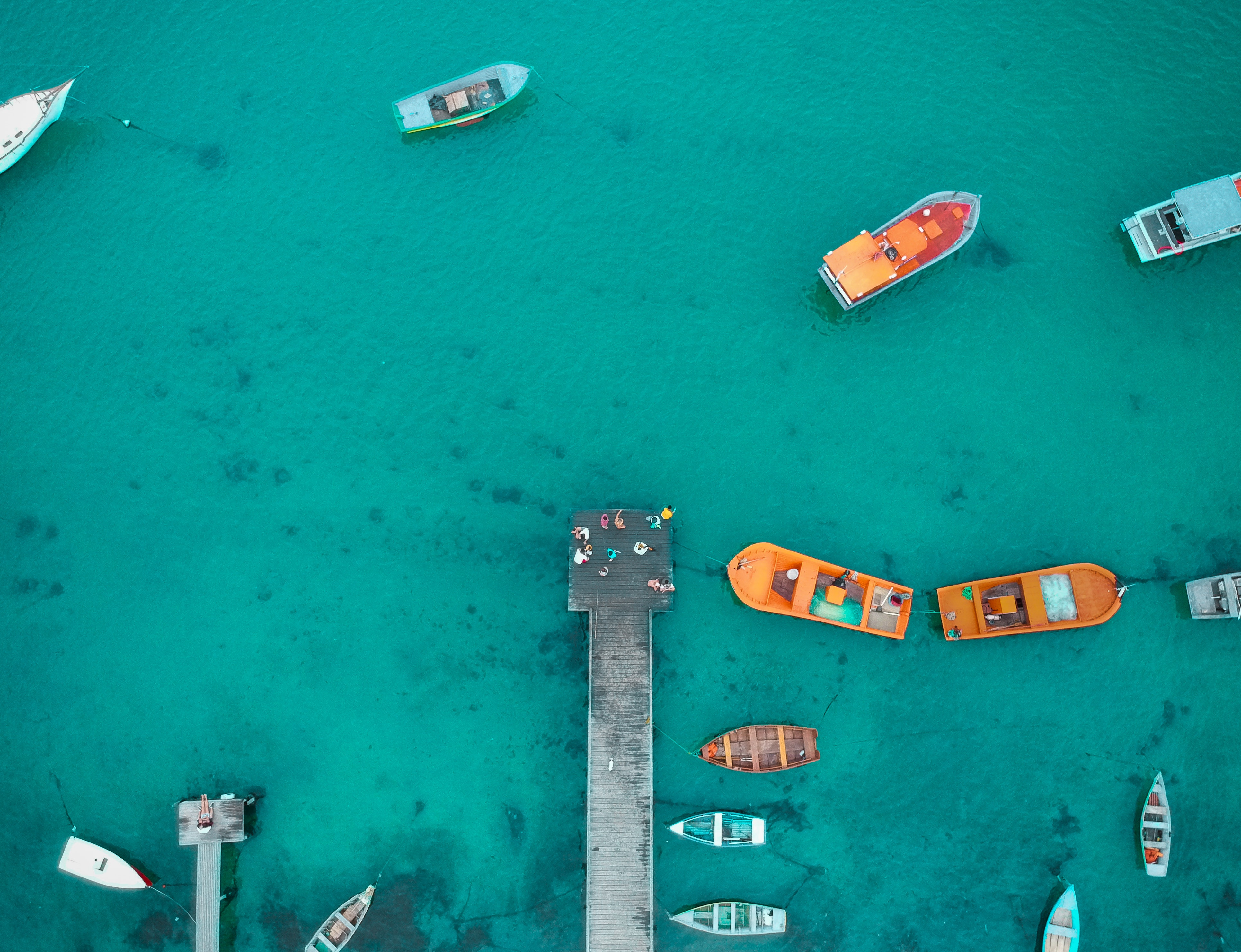 Aerial View of Boat Dock · Free Stock Photo