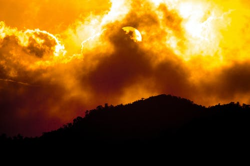 Free stock photo of apocaliptic sky, cloudy sky, golden sun