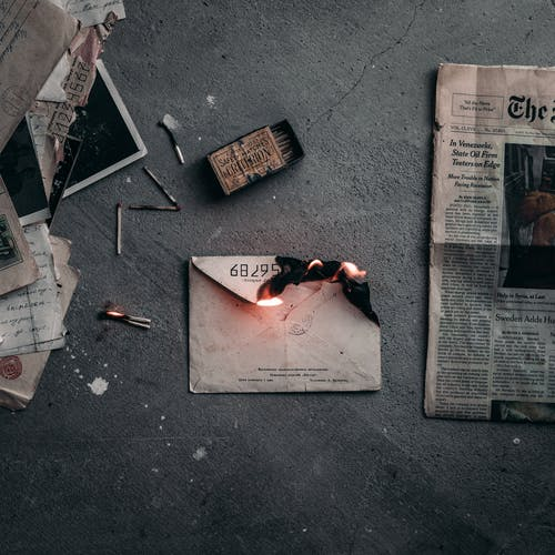 Burning Envelope on the Ground
