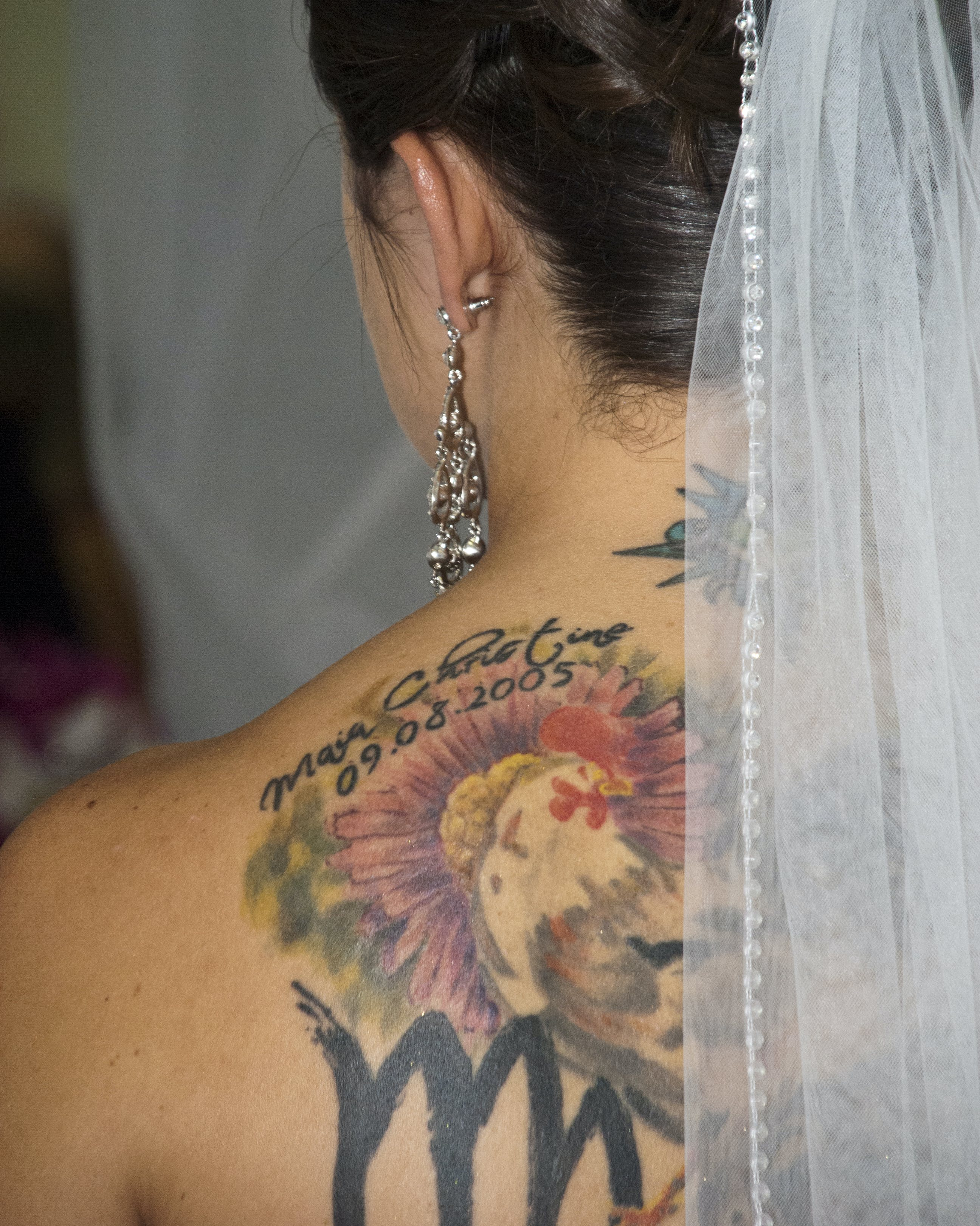 Free stock photo of bride, tattoo, wedding