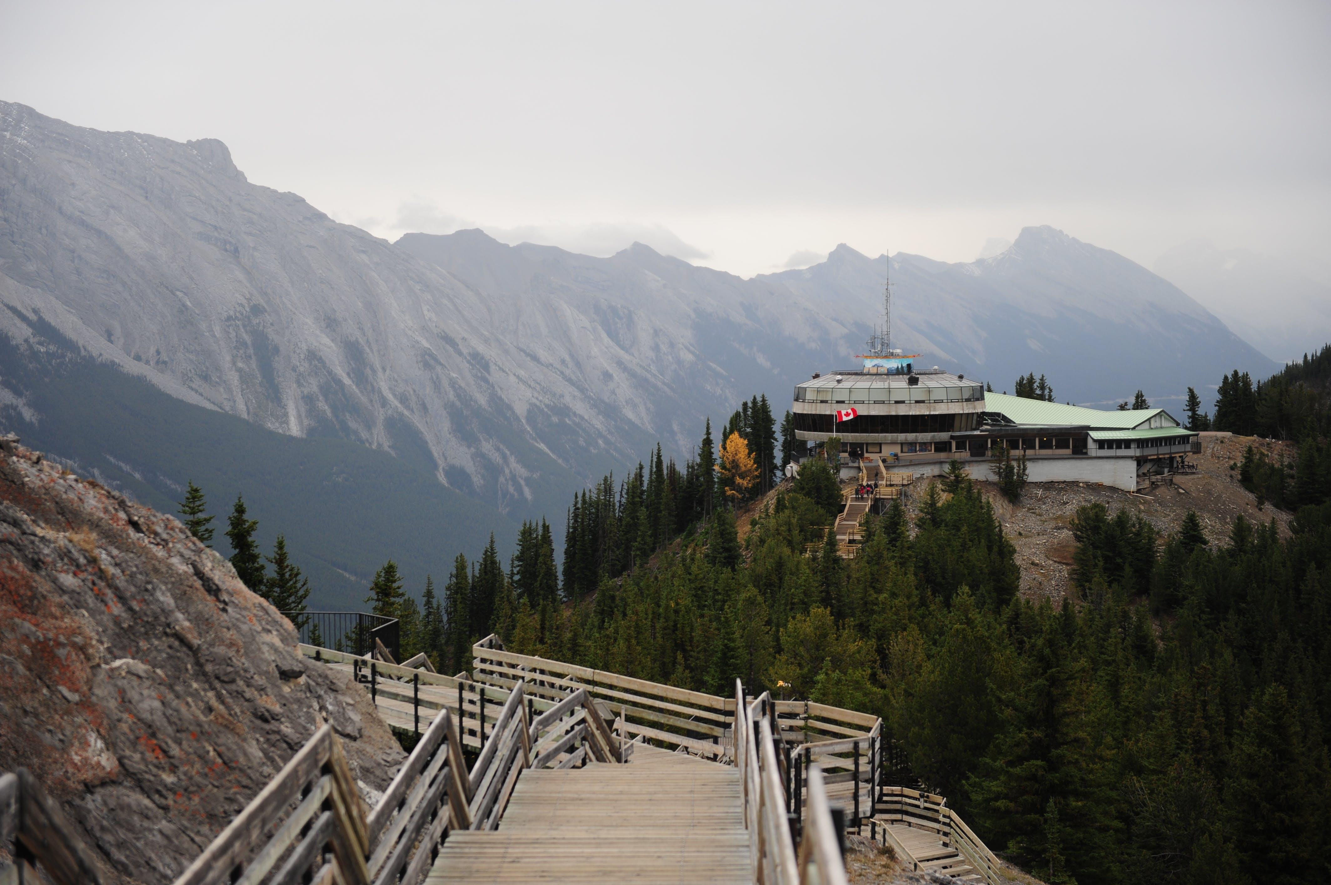 Free stock photo of banff, boardwalk, mountain top, visitor center
