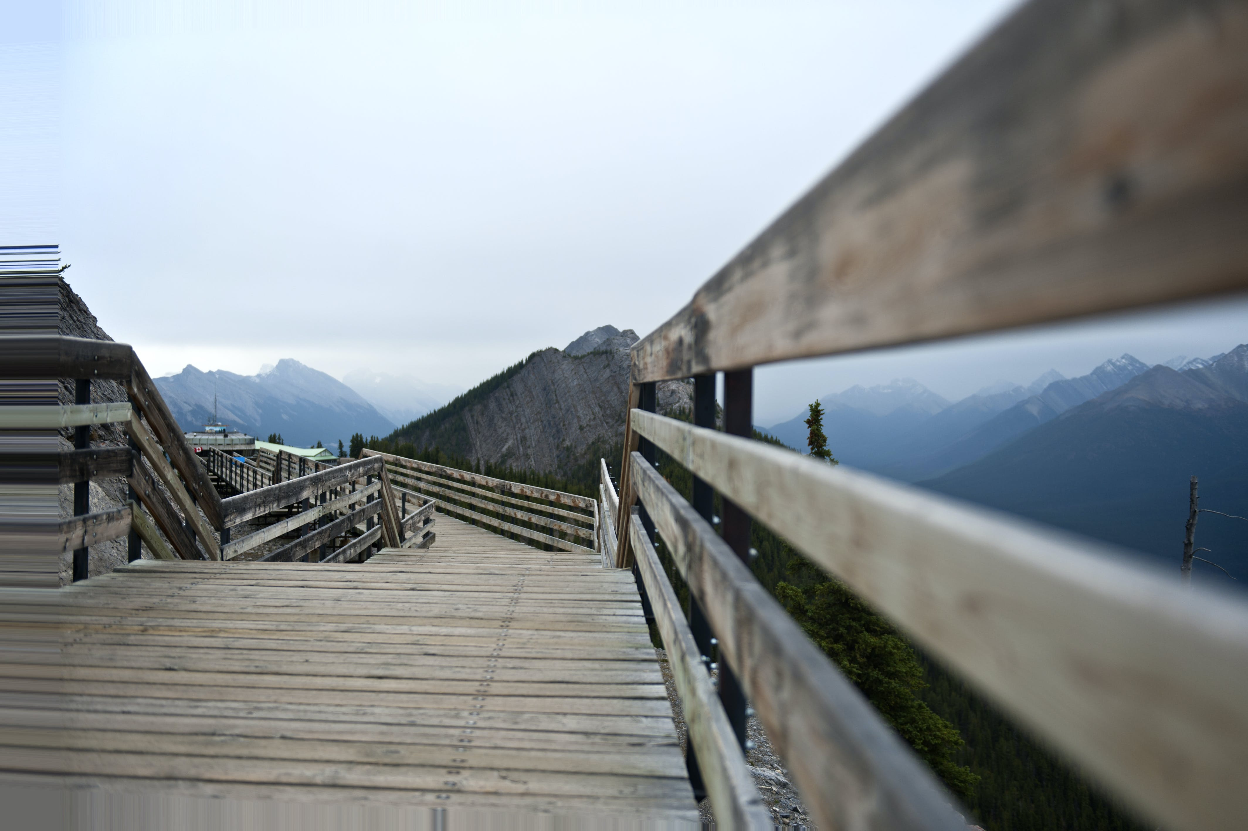 Free stock photo of banff, boardwalk, canada, mountain top
