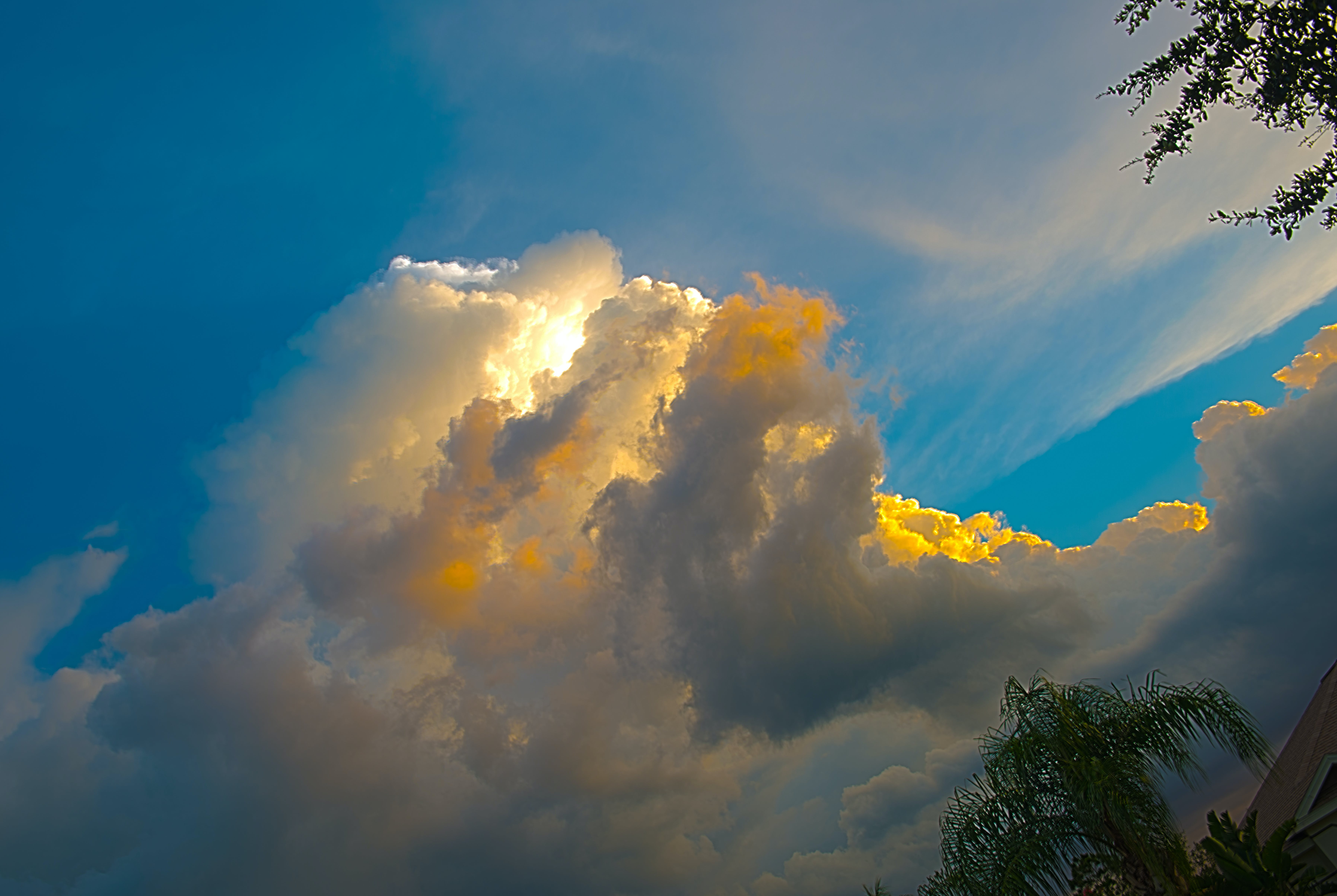 Free stock photo of clouds, colors, sun