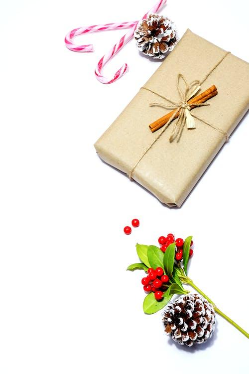 Free stock photo of berries, christmas present, cinnamon sticks