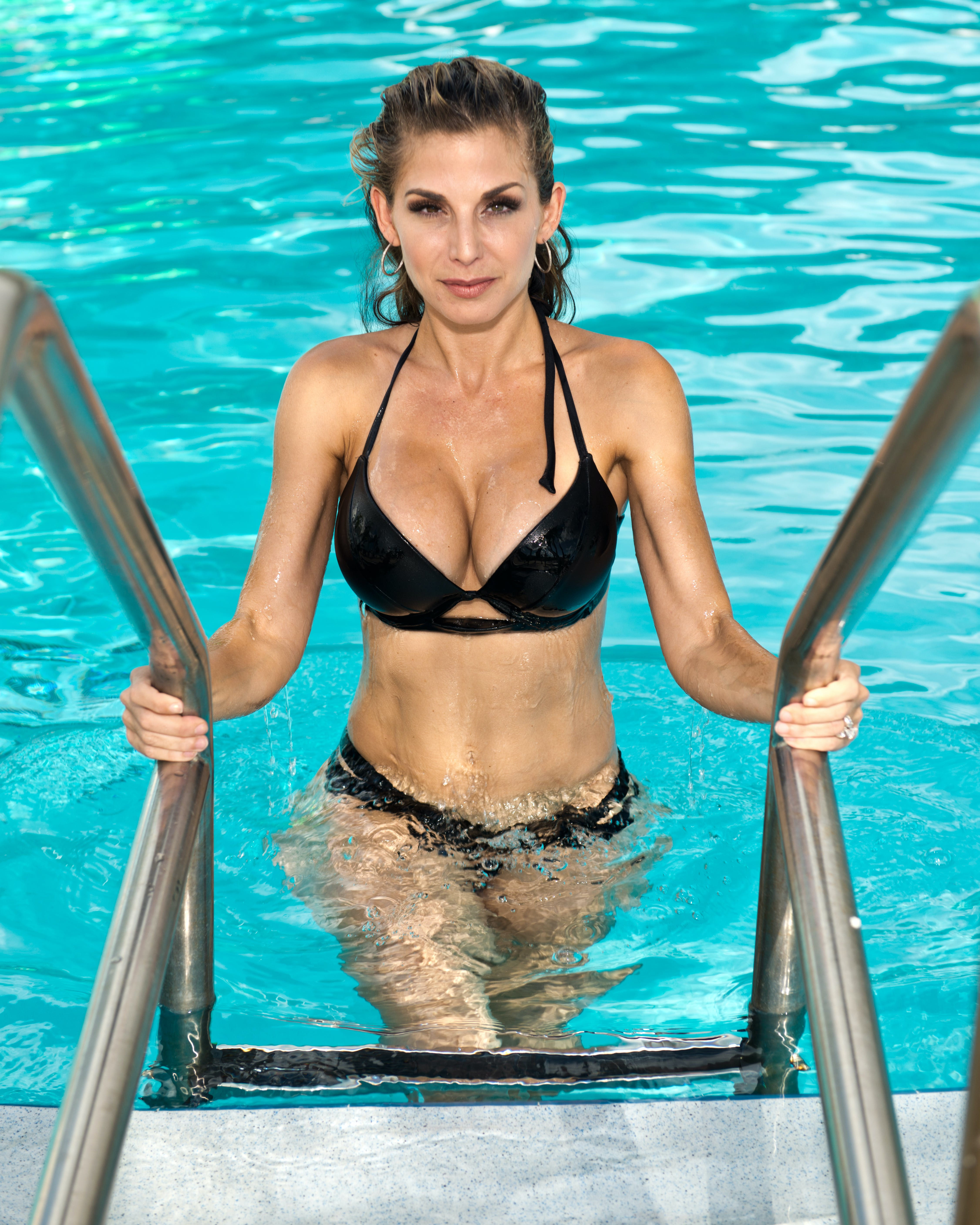 Free stock photo of bathing suit, exit pool, ladder, Physical trainer