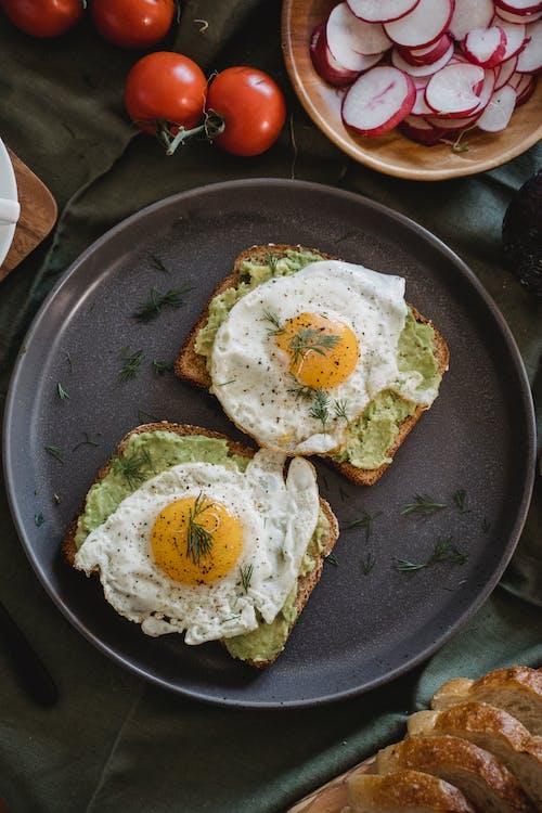 Imagine de stoc gratuită din avocado toast, cenușiu, cină