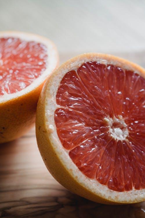 Sliced Ripe Grapefruit