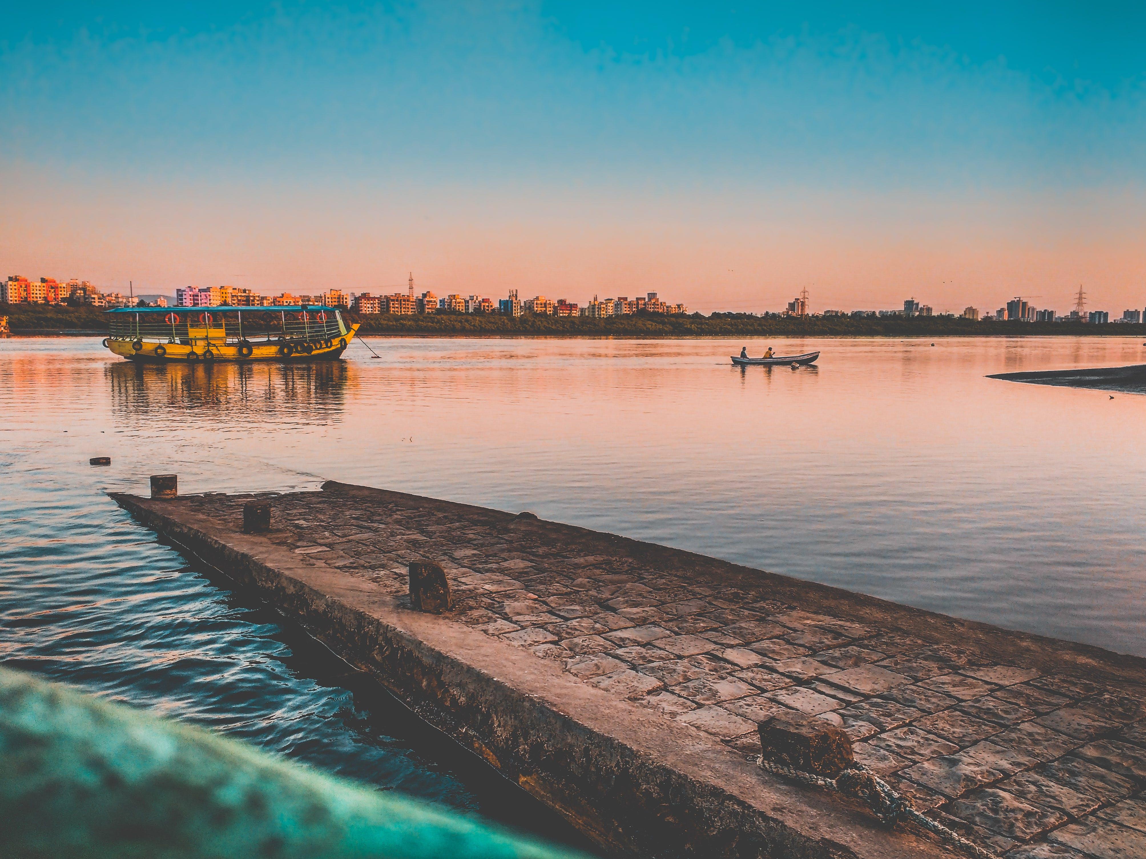 Free stock photo of boat, dock, evening, evening sky