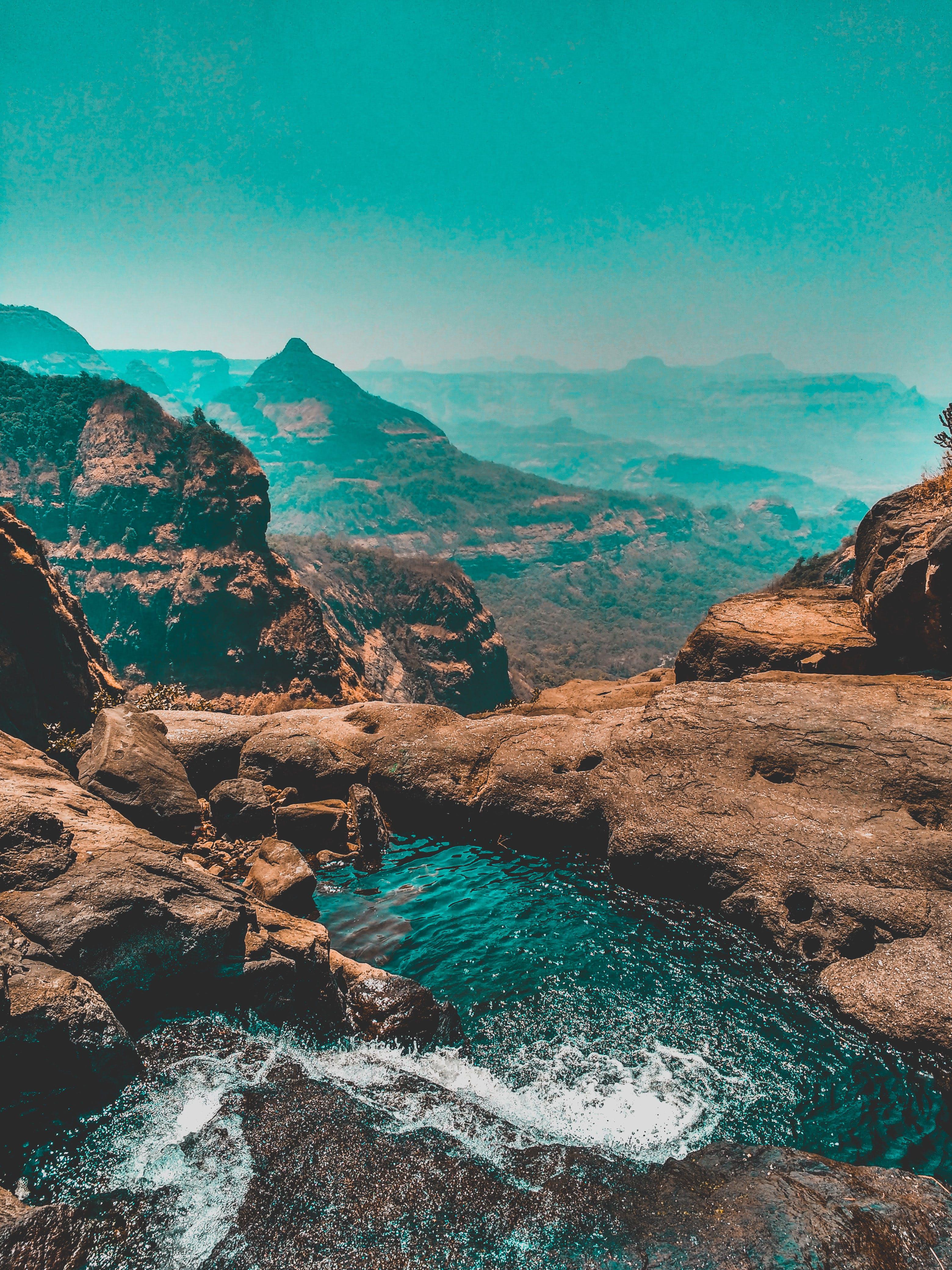 Fotos de stock gratuitas de agua, cascadas, caudal, cielo