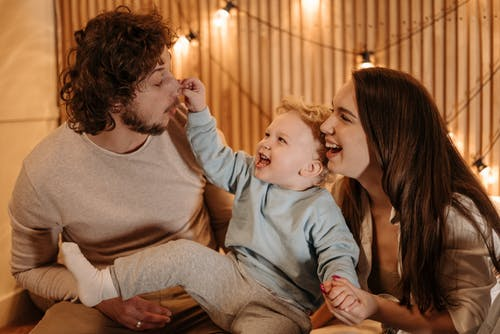 Baby Pinching Dads Nose