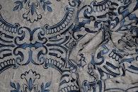 blue, pattern, bed