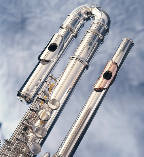 Stainless Musical Instruments with Gold and Silver Mouthpieces