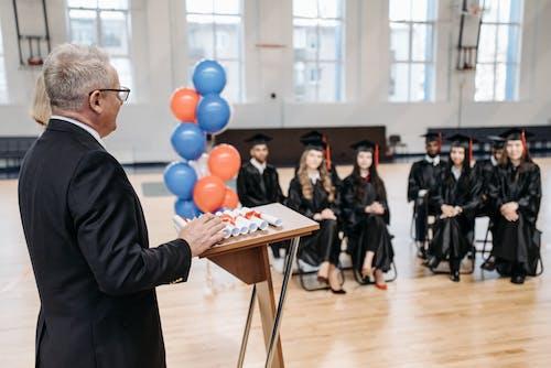 Free stock photo of academic cap, adult, banking