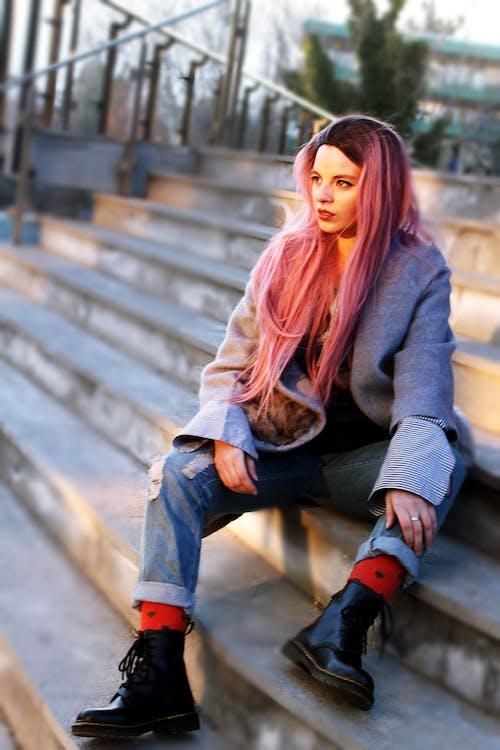 Photos gratuites de beau, brouiller, cheveux roux, citadin