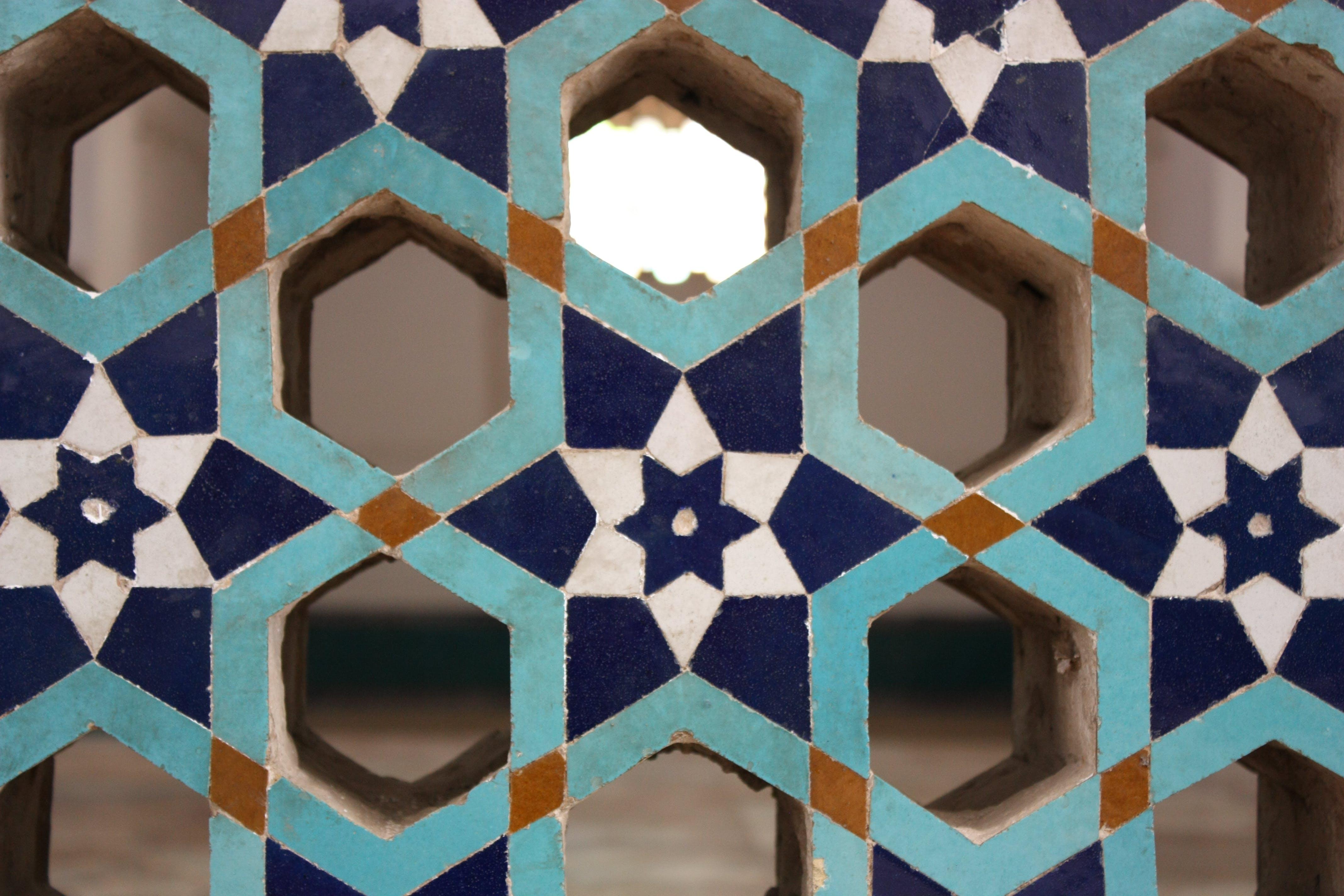 Blue and Light-blue Wooden Organizer