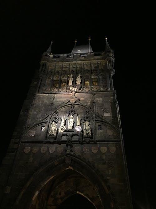 Free stock photo of illuminated, nightscape, sculptures