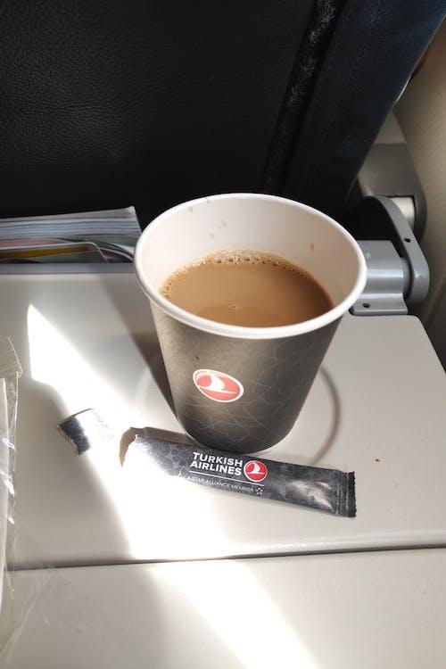 Free stock photo of airplane, coffee, coffee mugs