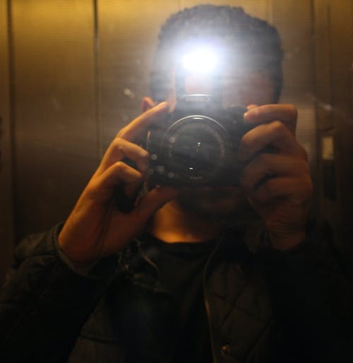 Free stock photo of lift, mirrored, selfie