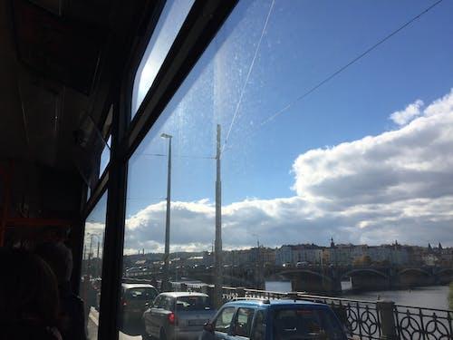 Free stock photo of blue sky, bridge, bus ride