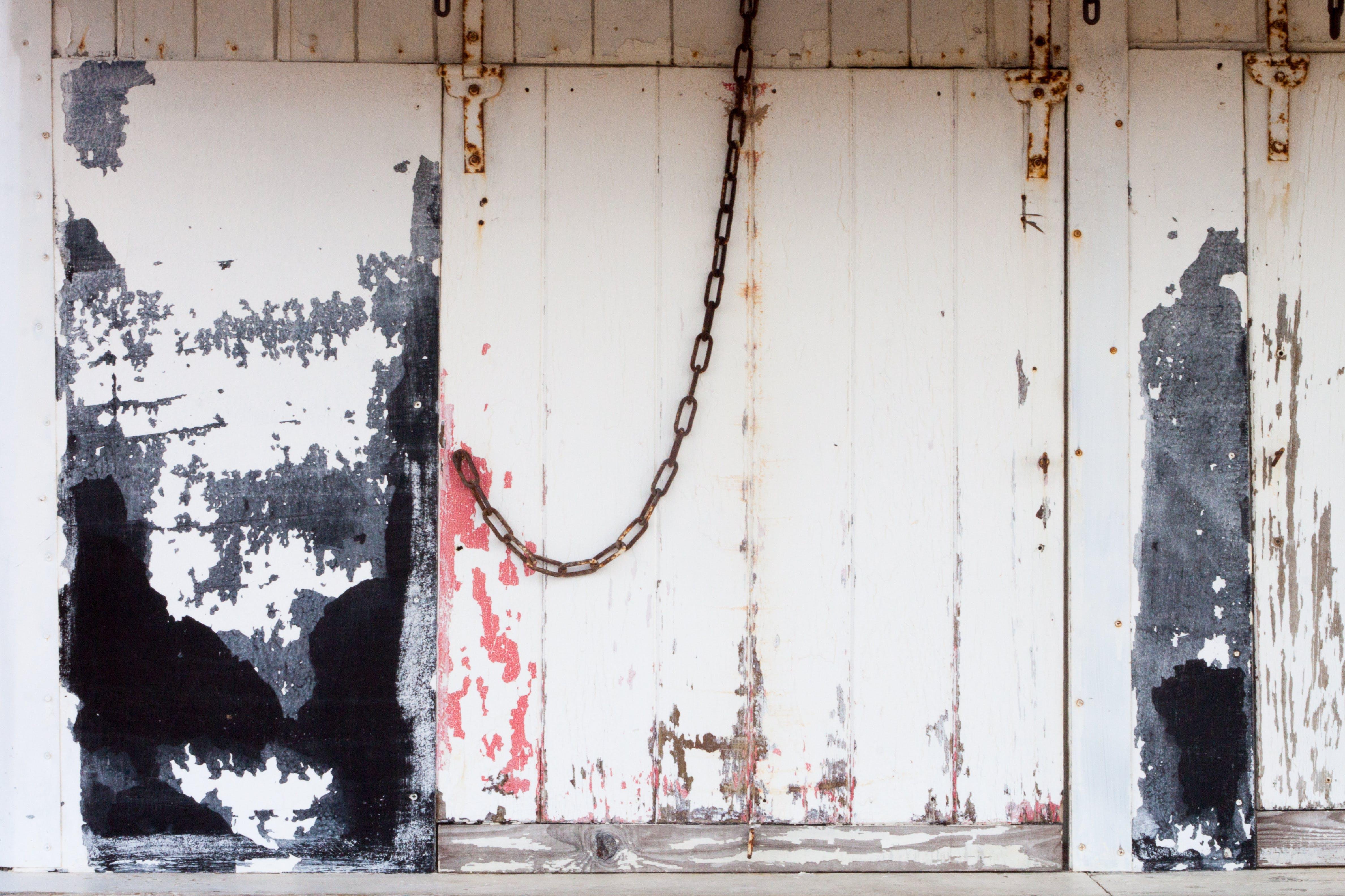 Gratis lagerfoto af dør, jern, kæde, rust
