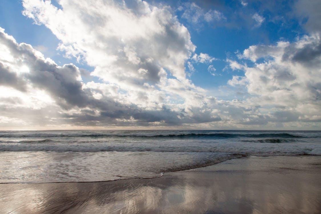 açık hava, bulutlar, dalgalar